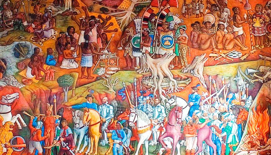 Mural de Juan O´Gorman en el Ex Templo de San Agustín