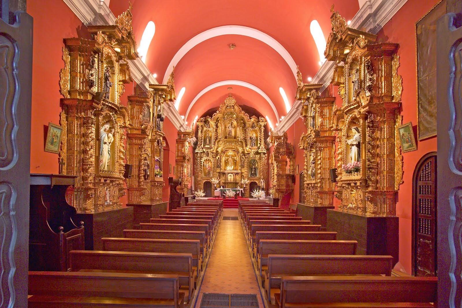 Interior del templo de Santa María Magdalena