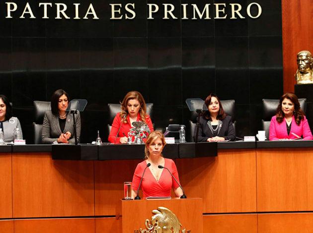 La Senadora Marcela TorresPeimbert destacó la importancia de tener piso parejo para las mujeres en la toma de decisiones de México
