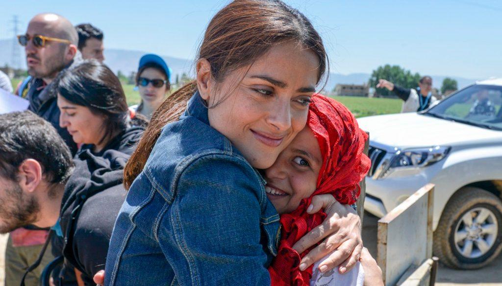 <h1>Salma Hayek reconocida por UNICEF</h1>