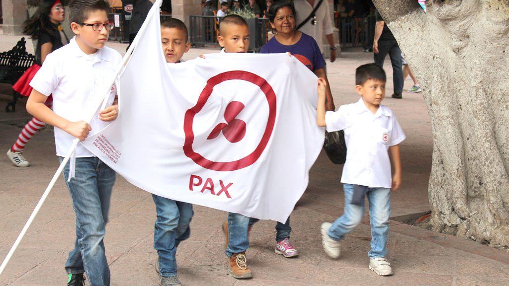 <h1>COMNAPAZ lleva acabo marcha por La Paz en Plaza de Armas</h1>