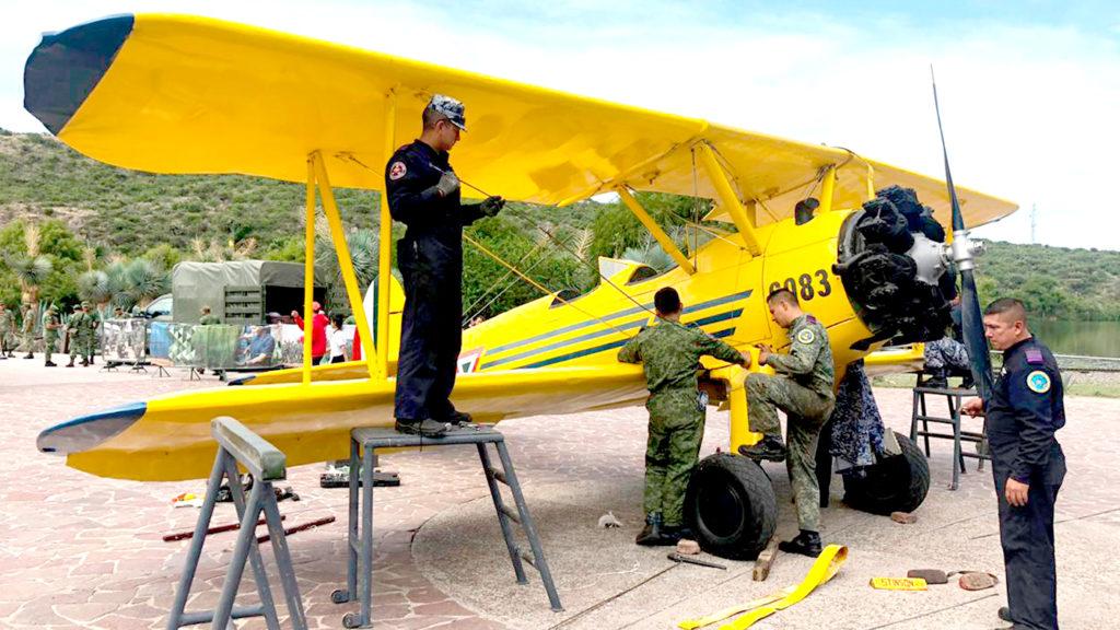 <h1>La Gran Fuerza de México exposición del Ejército y la Fuerza Aérea en el Parque Bicentenario</h1>