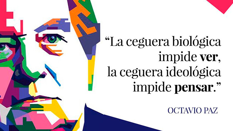<h1>Recuerdan a Octavio Paz como el intelectual más importante del siglo XX</h1>