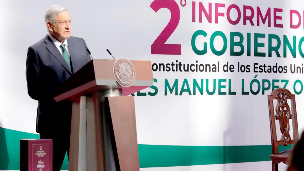 <h1>AMLO presenta su segundo informe de gobierno</h1>