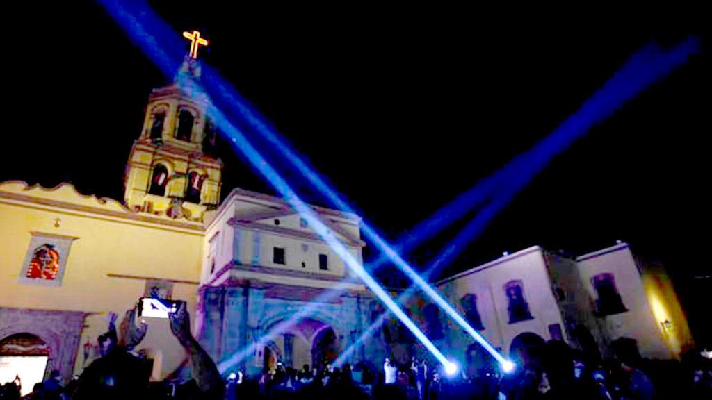 <h1>Con proyección láser se celebra el 490 Aniversario de la Fundación de Querétaro</h1>